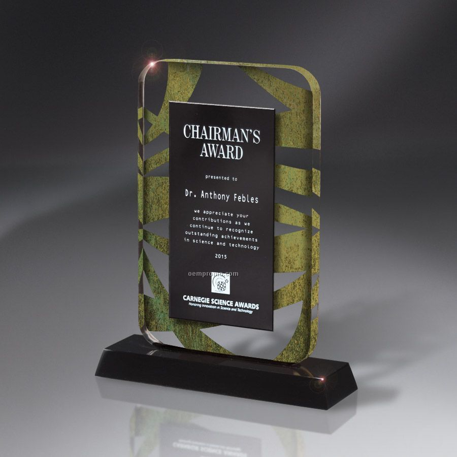 Overture Series Elevation Lucite Award On Base