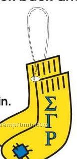 Sigma Gamma Rho Sorority Socks Zipper Pull