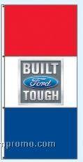 Double Face Dealer Rotator Drape Flags - Built Ford Tough