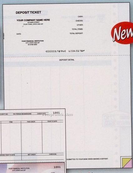 Laser Deposit Ticket - Peachtree Compatible (1 Part)