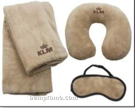 Blanket / Neck Pillow And Eye Mask Travel Set / 5 Day