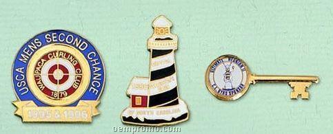 "Custom Cloisonne Badge Or Larger Pin - 1-1/4"""