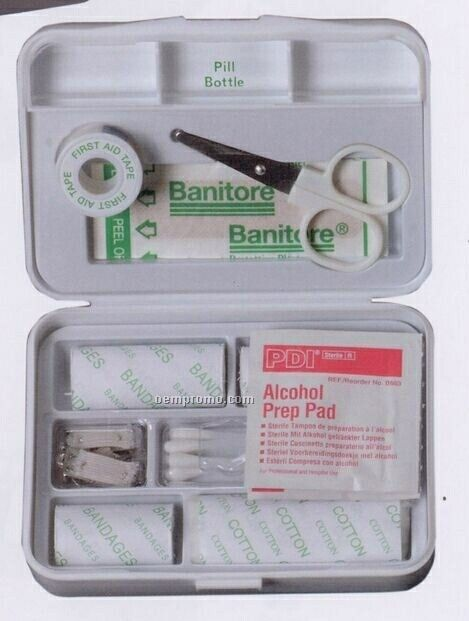 First Aid Kit With Built-in Pill Container