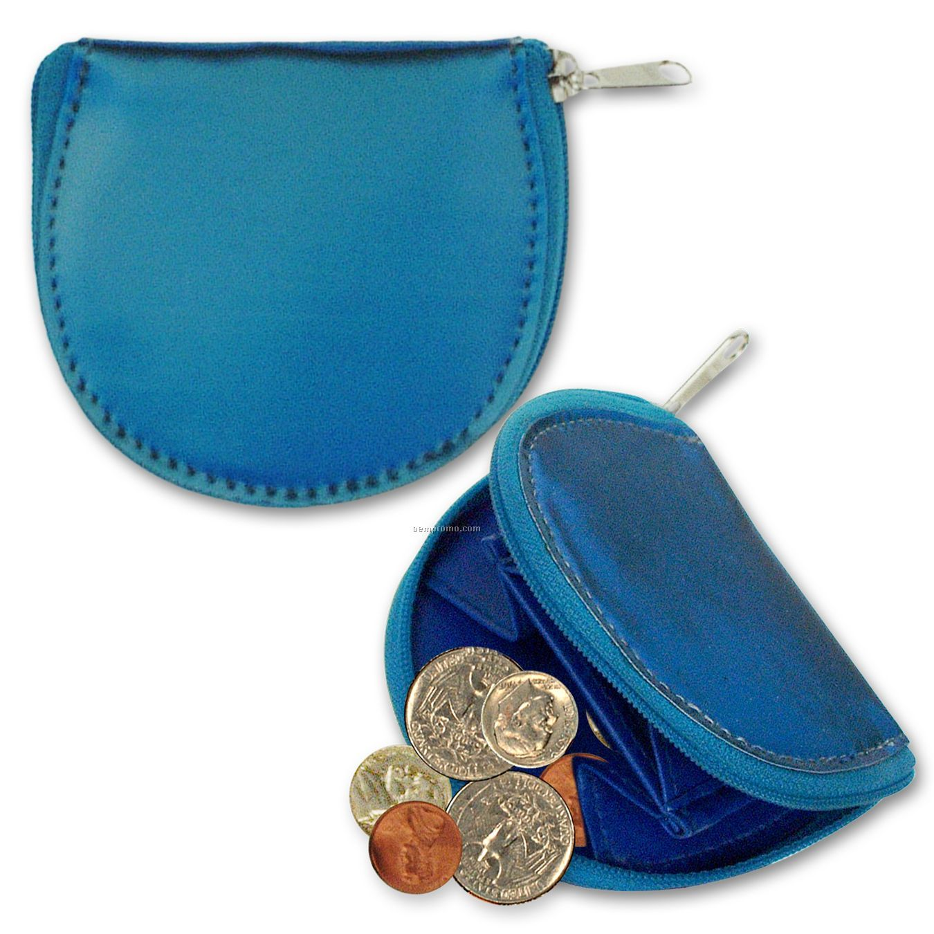 Round Coin Purse W/3d Lenticular Changing Colors Effects (Blanks)