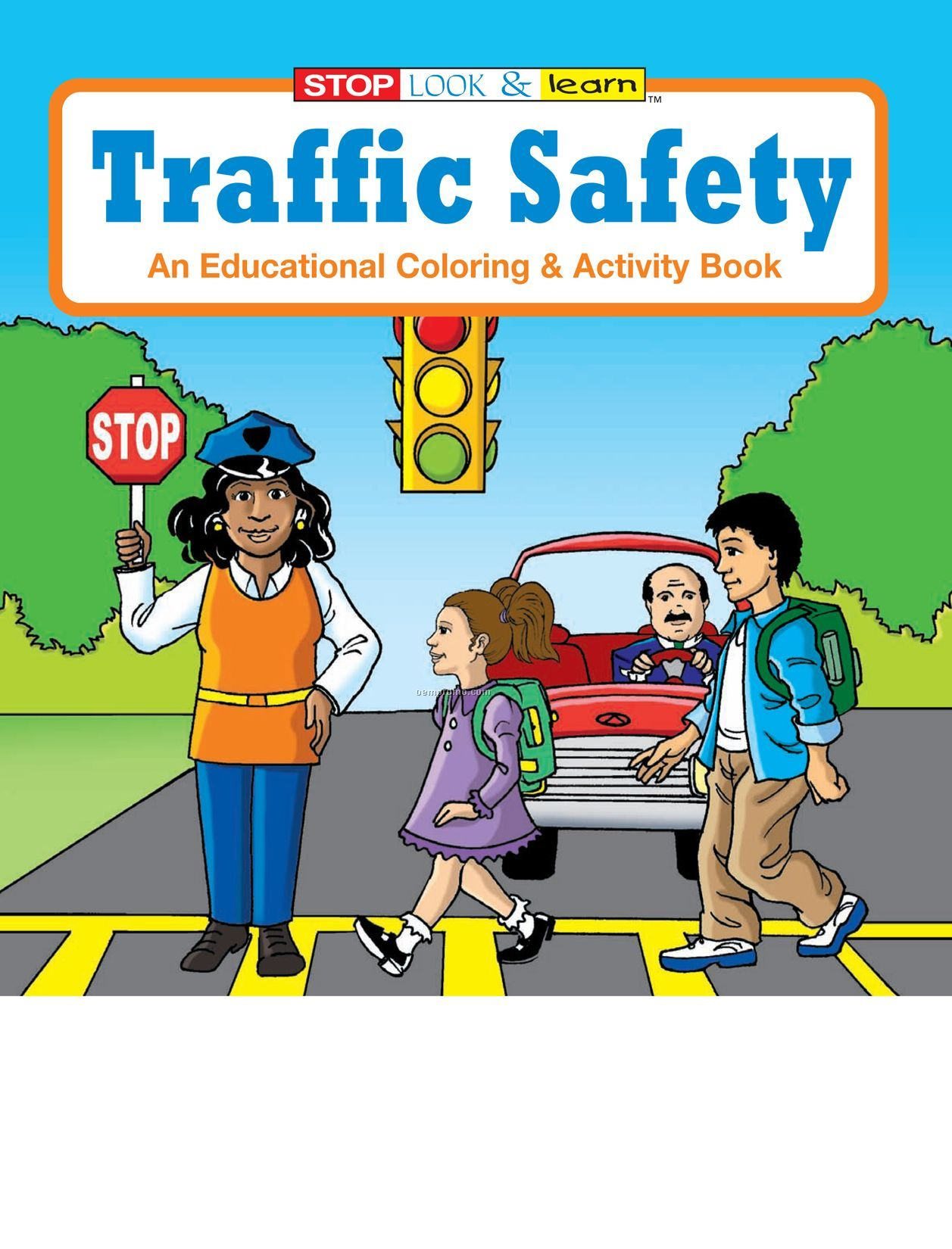 Traffic Safety Colouring Pages page 3