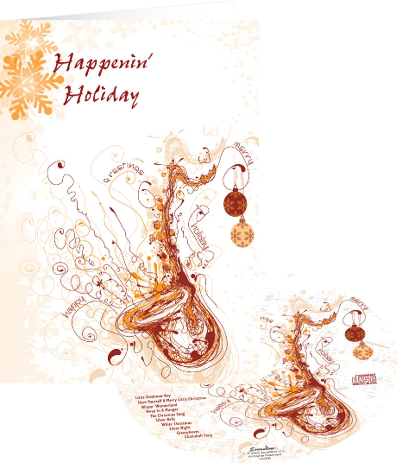Happenin' Sax Holiday Greeting Card With Matching CD