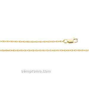 """Ladies' 7"""" 14ky 1-1/4mm Lasered Titan Gold Rope Chain Bracelet"""