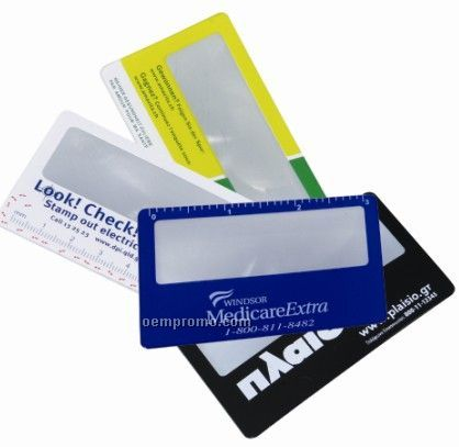 Magnifier And Credit Card Holder