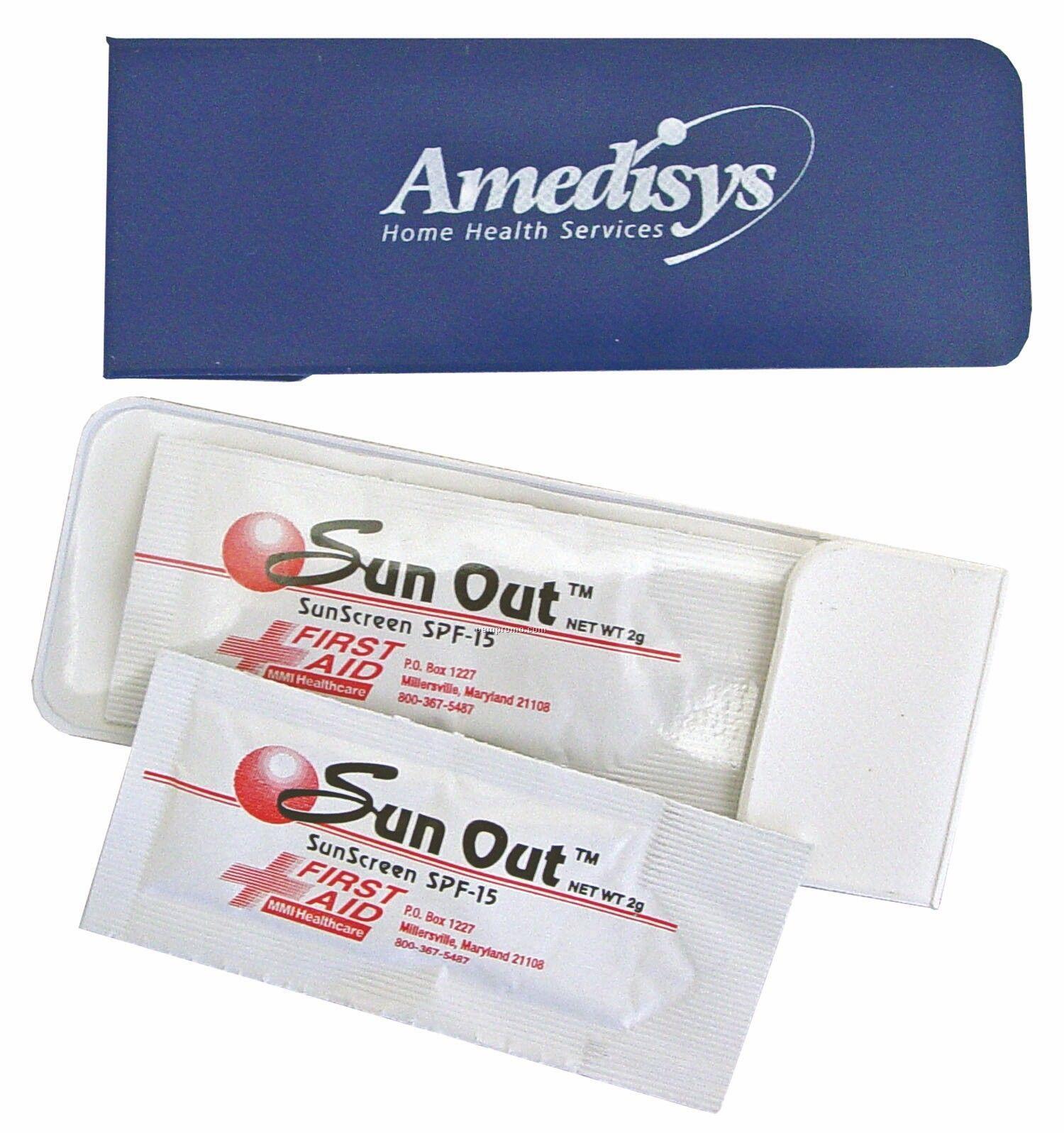 Moisturizing Sunscreen Packets In Vinyl Case - Blank