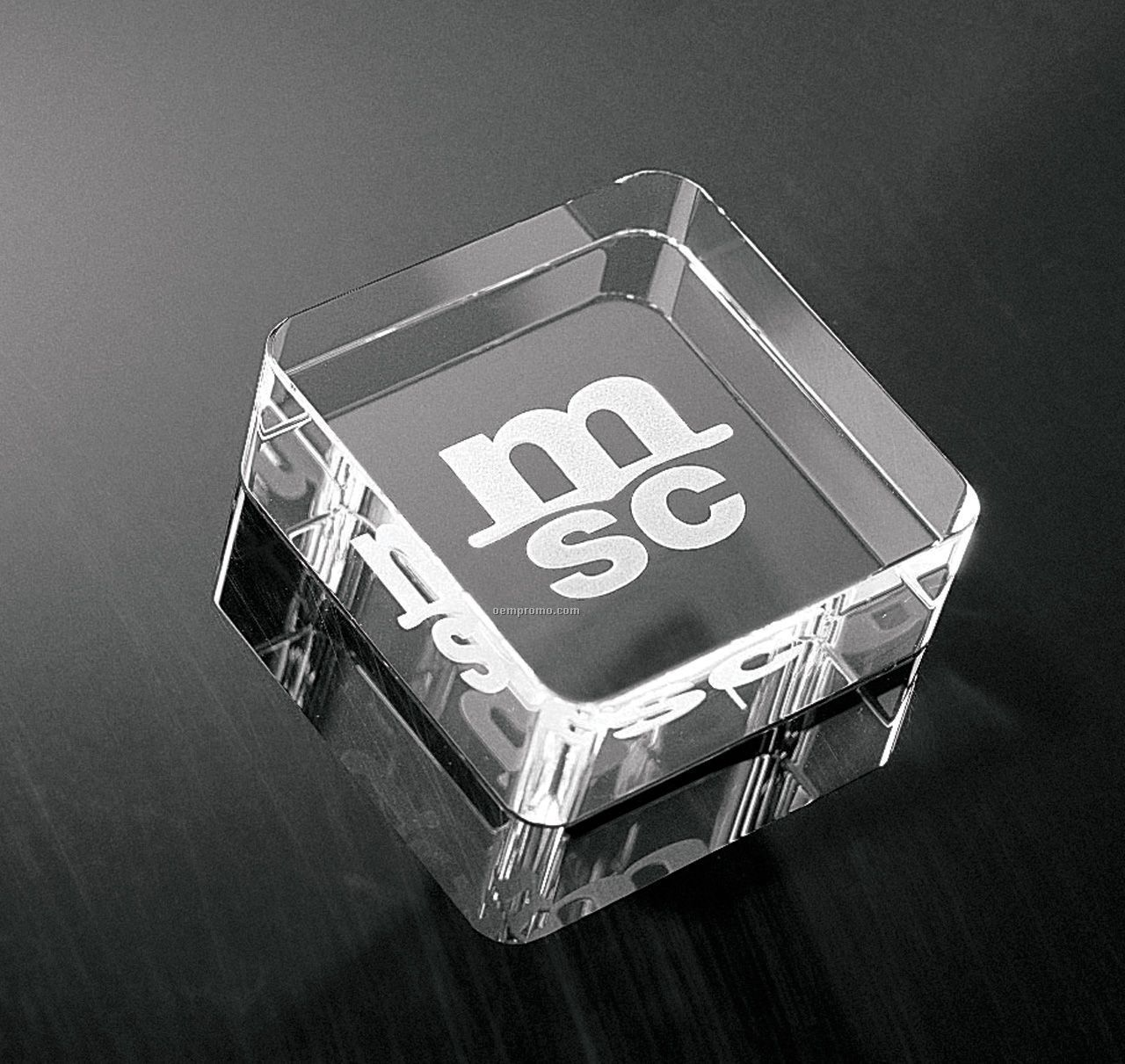 Optic Crystal Square Paper Weight