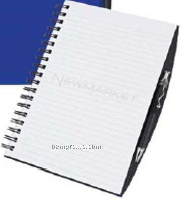 100 Sheet Poly Cover Journal W/ Pen Safe & Pen