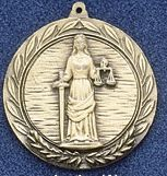 "2.5"" Stock Cast Medallion (Justice)"