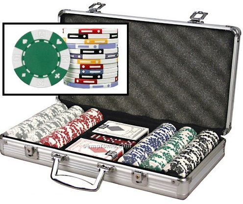 300 Card-suited ABS Composite 11.5 Gram Poker Chip Set W/ Cards