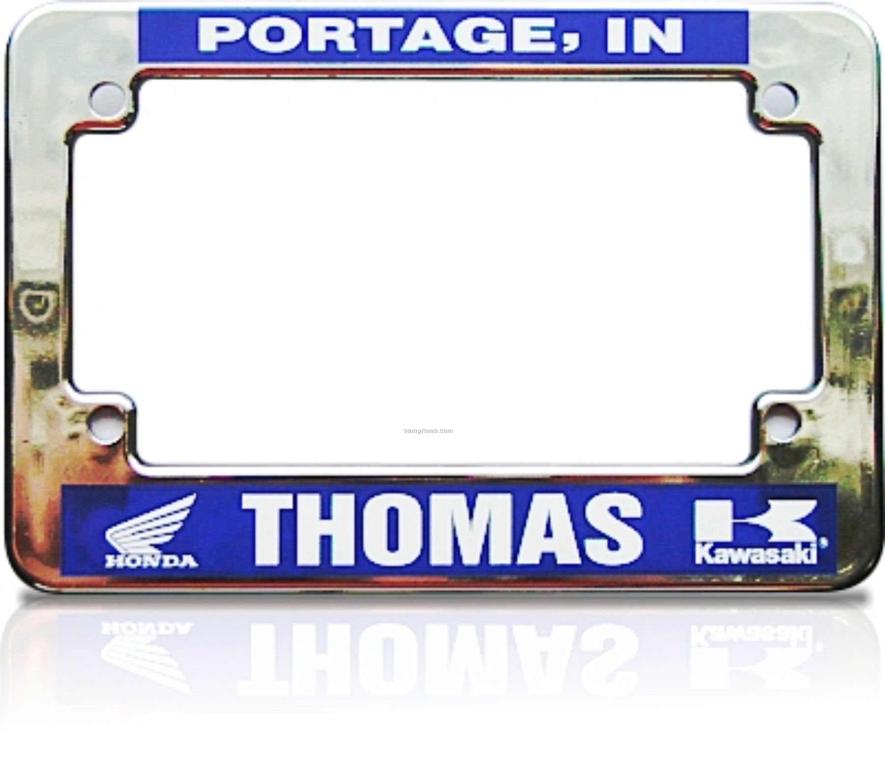 Motorcycle license plate dimensions usa