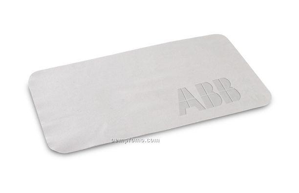 "Debossed Microfiber Cloth (4""X7"")"