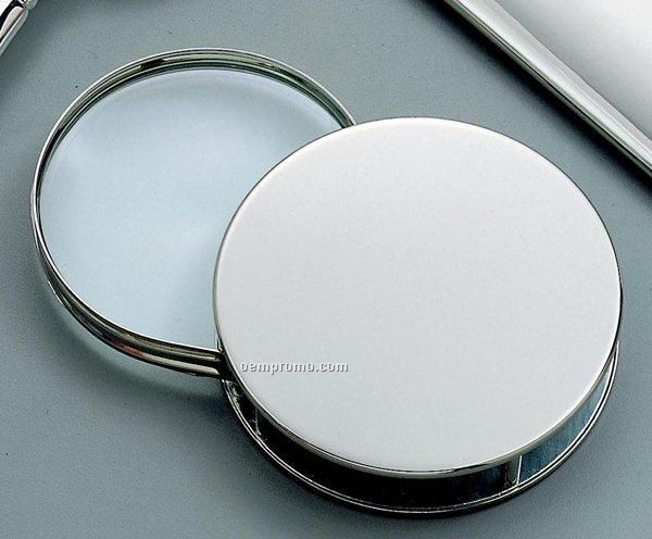Nickel Plated Roll Out Magnifying Glass