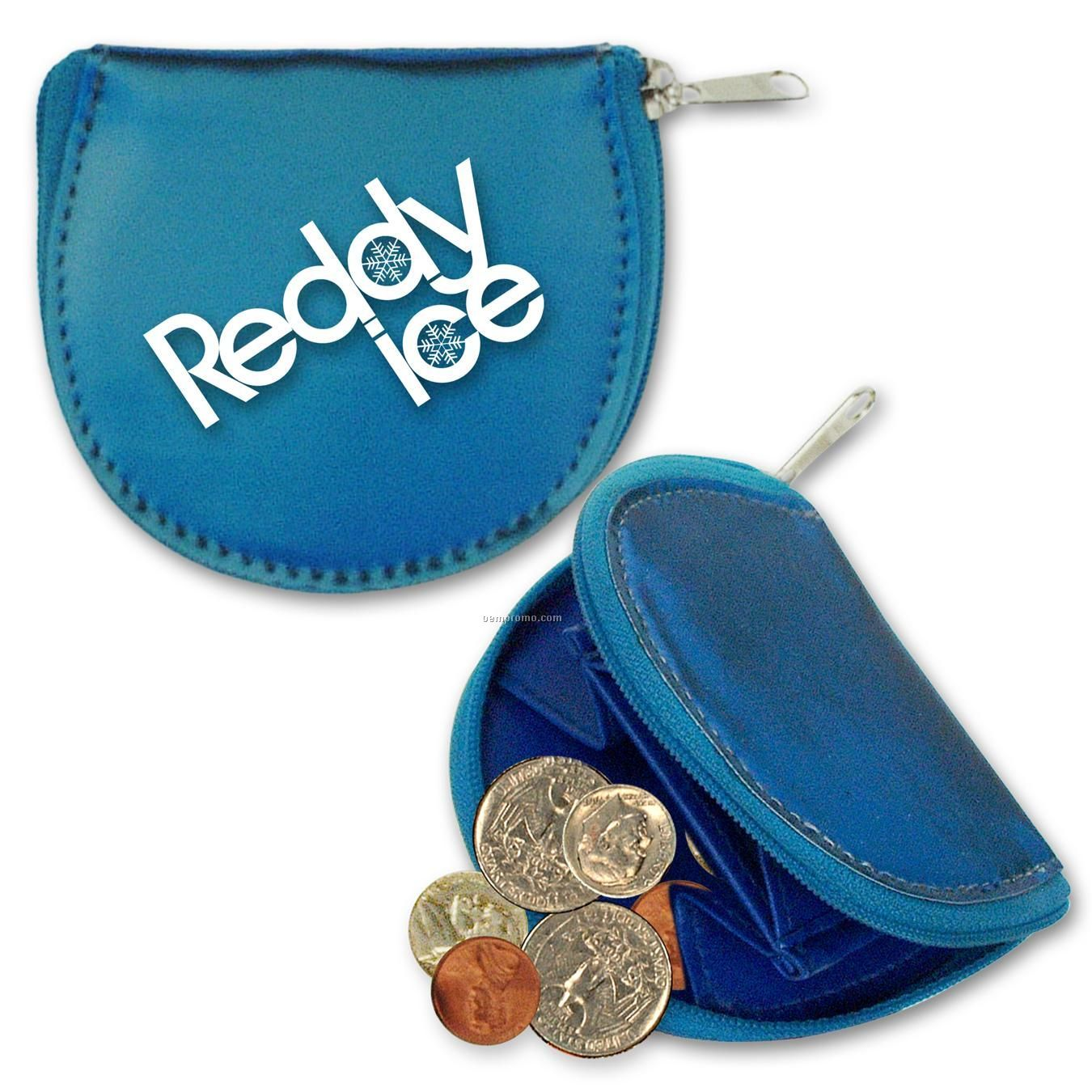 Round Coin Purse W/3d Lenticular Changing Colors Effects (Imprinted)