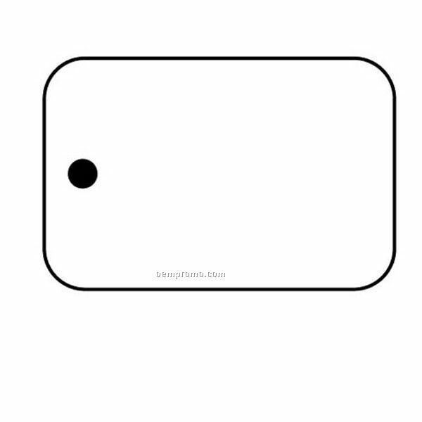 Stock Shape Collection Rectangle 11 Key Tag