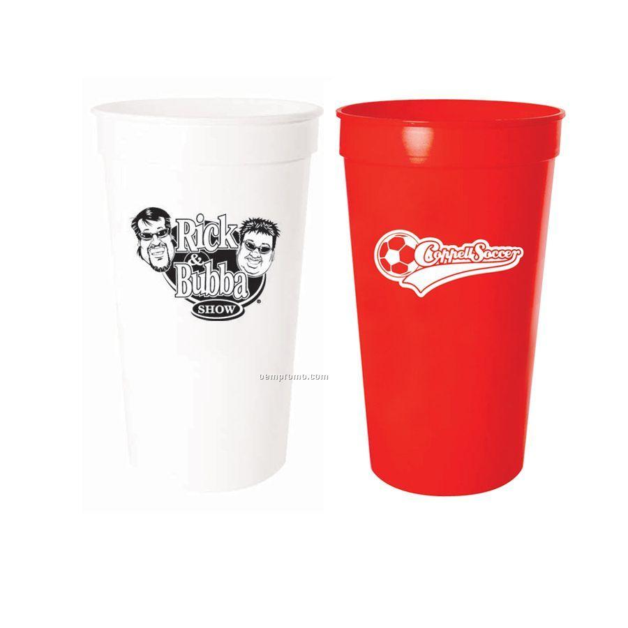 32 Oz. Stadium Cup In White