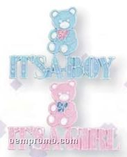 "4 1/2"" It's A Boy Or It's A Girl Floral Pick (12 Count)"