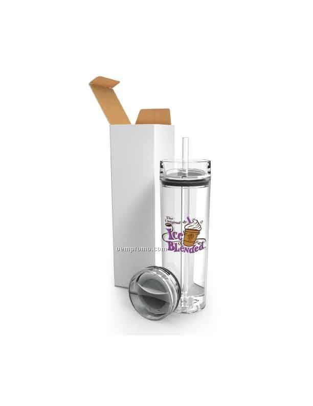 Clearview Tumbler Gift Set With Two Lids & Straw