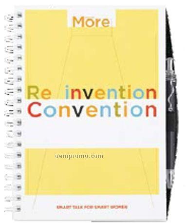 100 Sheet Gloss Cover Journal W/Pen Safe Back