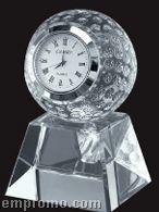 Optical Crystal Golf Ball Clock W/ Base