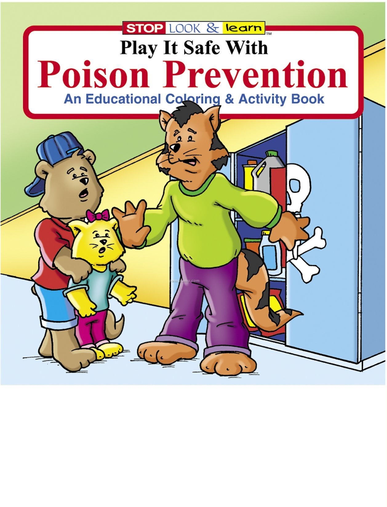 Play It Safe W/Poison Prevention Coloring Book Fun Pack