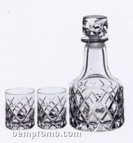 Sofiero Crystal Dof Glasses & Decanter Set By Gunnar Cyren