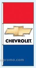 Stock Double Face Dealer Rotator Drape Flags - Chevrolet