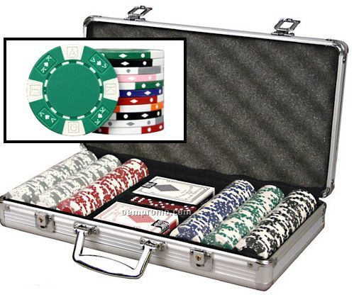 300 Ace King ABS Composite 11.5 Gram Poker Chip Set W/ Cards