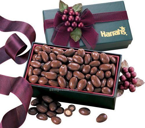 Green Gift Box W/ Milk Chocolate Covered Almonds