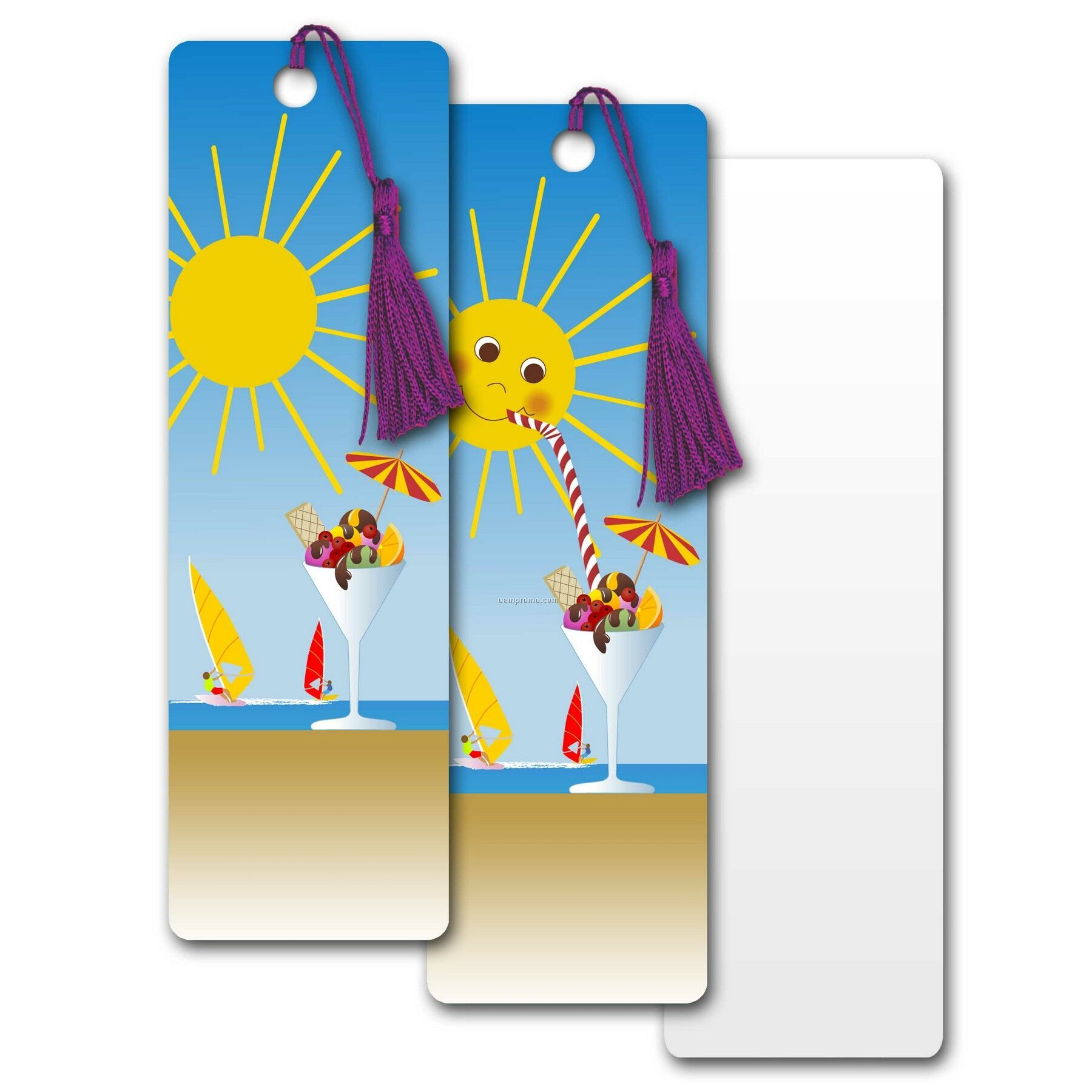 Pet Bookmark W/ 3d Lenticular Images Of An Animated Tropical Sun (Blanks)