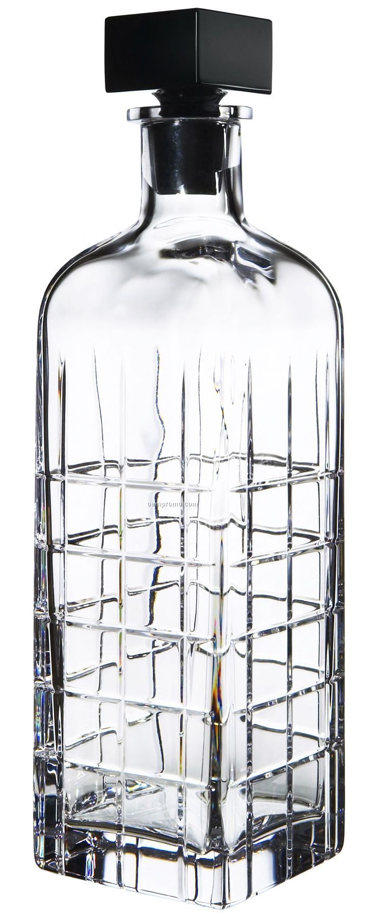 Street Crystal Decanter W/ Manhattan Street Grid