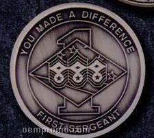 "1-1/2"" Antique Nickel Silver Coins (8 Gauge)"