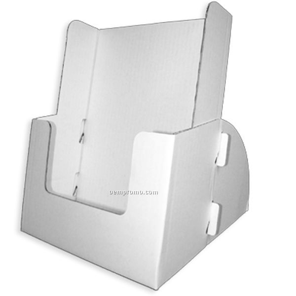 Brochure Holder Fits 8 1/2'' Literature, Extra Deep Magazine Display