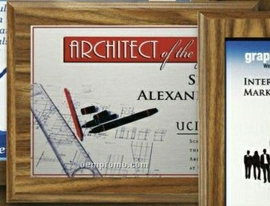 Econo Walnut Plaque With Sublimated Plate (8