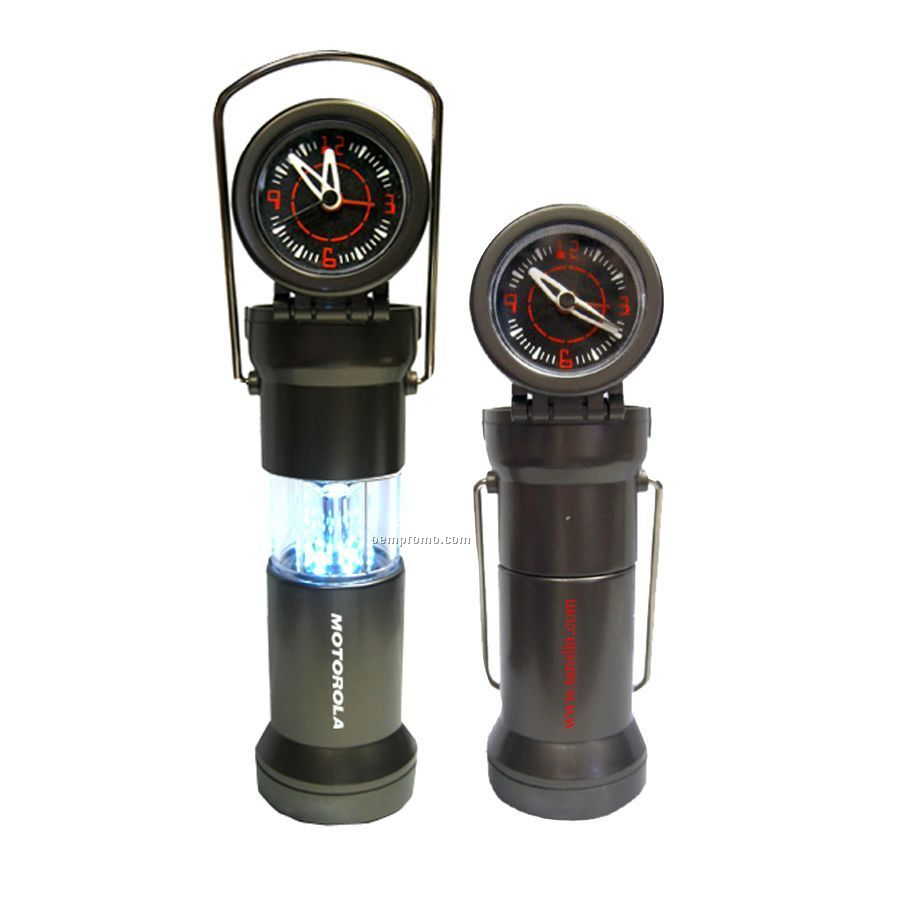 LED Camping Lantern With Clock