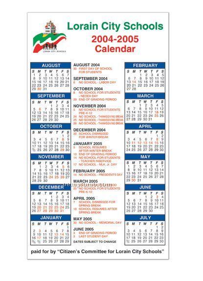 """School Year Calendar Magnet (4""""X7"""")"""