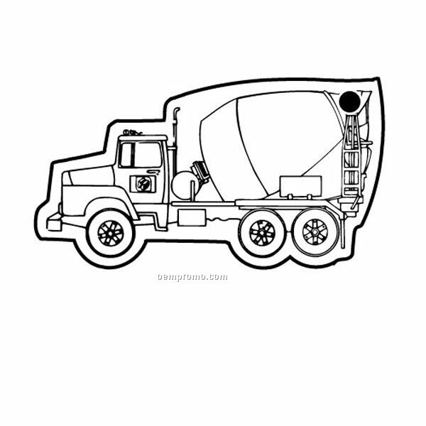 Stock Shape Collection Cement Truck 2 Key Tag