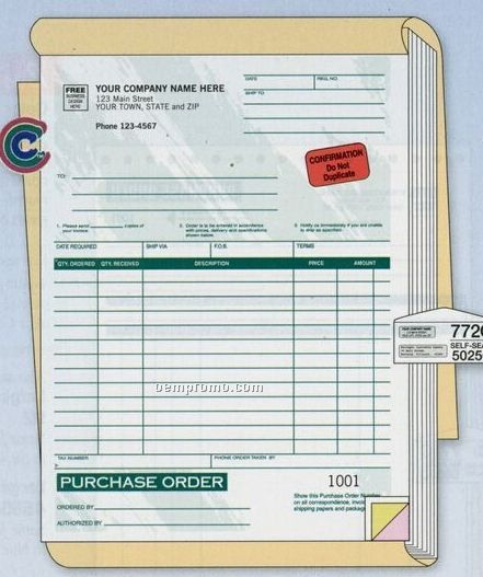 Classic Collection Purchase Order Book (2 Part)