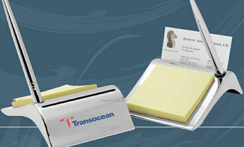 Newark Notepad, Card And Pen Holder