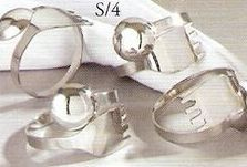 4 Piece Cutlery Napkin Ring Set