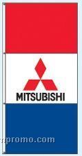 Double Face Dealer Rotator Drape Flags - Mitsubishi