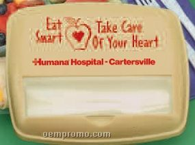 Eat Smart, Take Care Of Your Heart 3 Section Container With Personalization