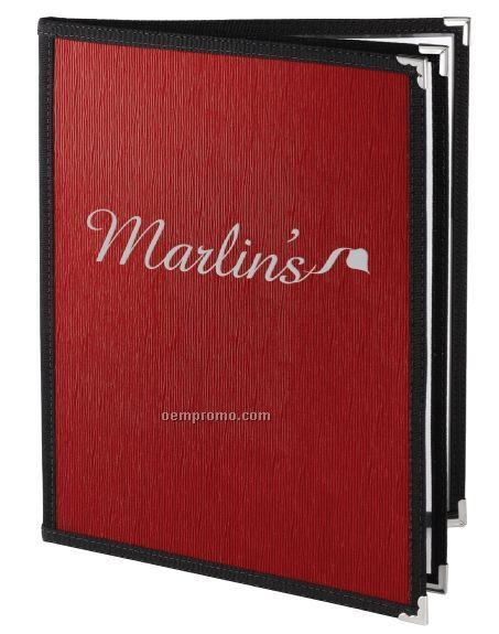 "Glean Pellaq Menu Cover - Two View/Book Style (8 1/2""X11"")"