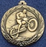 """2.5"""" Stock Cast Medallion (Motorcycle 1)"""