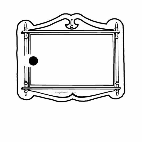Stock Shape Collection Sign W/ Frame Key Tag