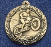 """1.5"""" Stock Cast Medallion (Motorcycle 1)"""