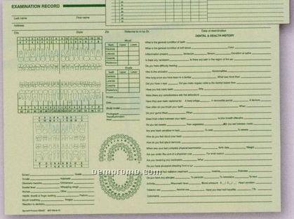 Horizontal Dental Exam Record